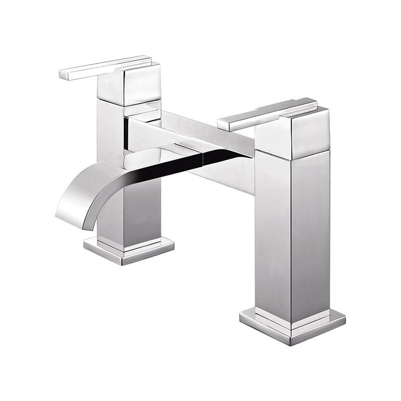 111005 方形两孔七寸浴缸单出水龙头