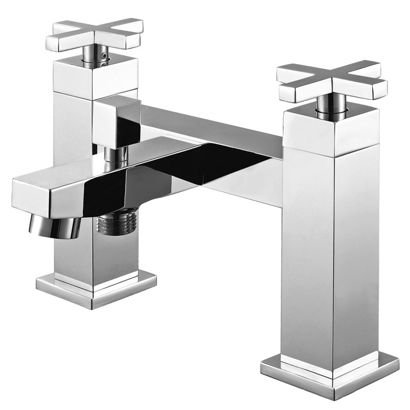 114007方形两孔七寸浴缸带淋浴龙头