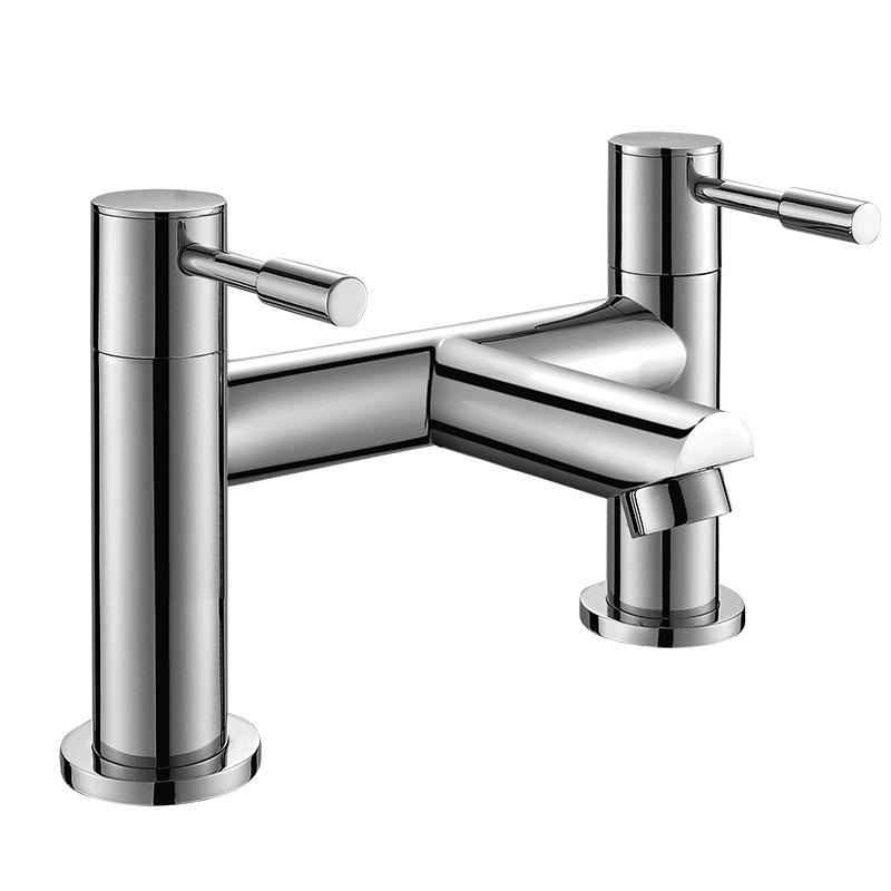 152005圆形两孔七寸浴缸单出水龙头