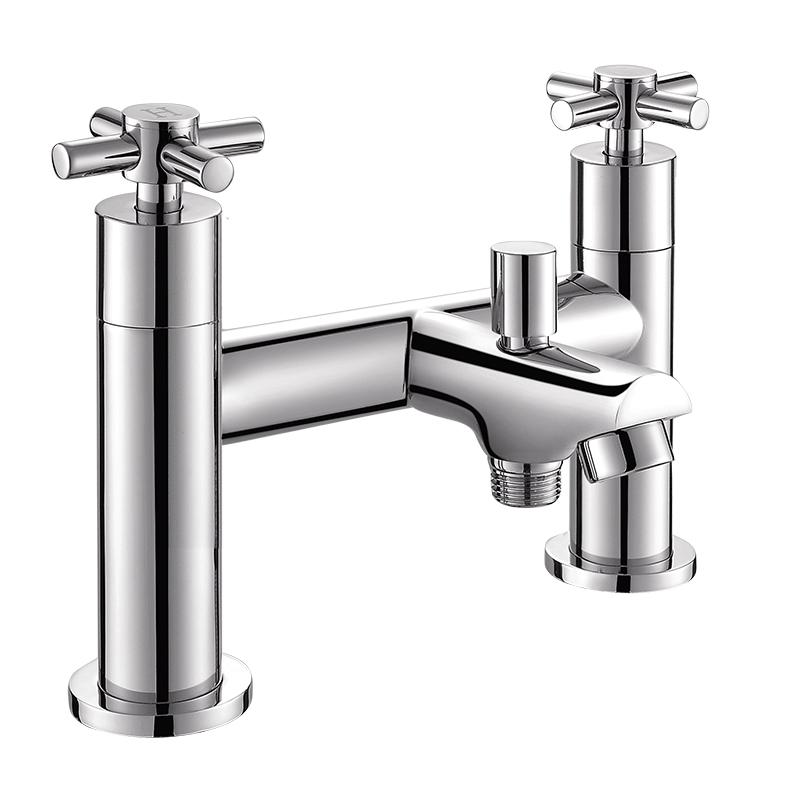 154007 圆形两孔七寸浴缸带淋浴龙头